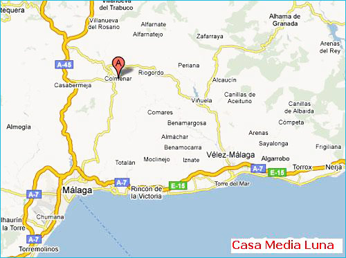 location of Casa Media Luna near Colmenar